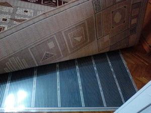 Теплый пол под ковром