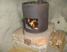 Гаражная печка