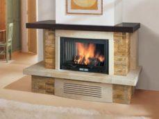 Камин газовый с имитацией дров