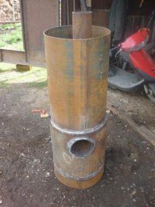Банная печка – вертикальный вариант
