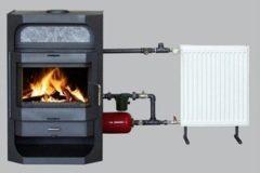 Металлическая печка с водяным контуром