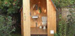 Дачный туалет может быть комфортным