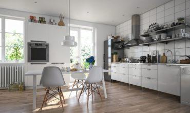 Водостойкий SPC-ламинат на кухне