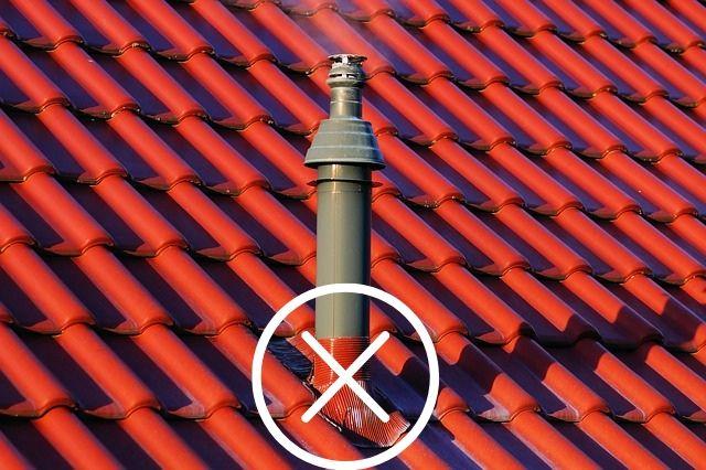 Изоляция дымохода на крыше