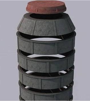 Колодец песчано-полимерный